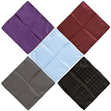 71e3ad6bd0861 BMC Mens 5 pc Mixed Pattern Design Handmade Fabric Handkerchief Accessory  Fashion Pocket Squares - Set
