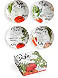 Pasta Italiana Dipping Dishes, Set of 4, Multi-Colour