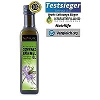 Schwarzkümmelöl kaltgepresst 100% naturrein und naturbelassen !! UNGEFILTERT !! 250ml Frischegarantie: täglich mühlenfrisch direkt vom Hersteller Kräuterland Natur-Ölmühle