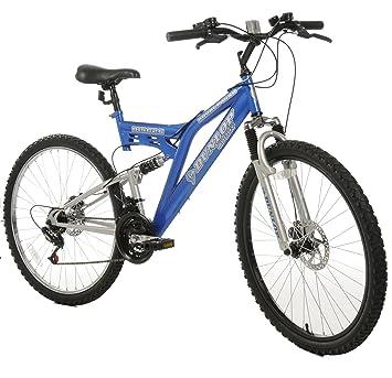 Dunlop DISC26 Mens Dual Suspension Bike - Electric Blue 18 inch