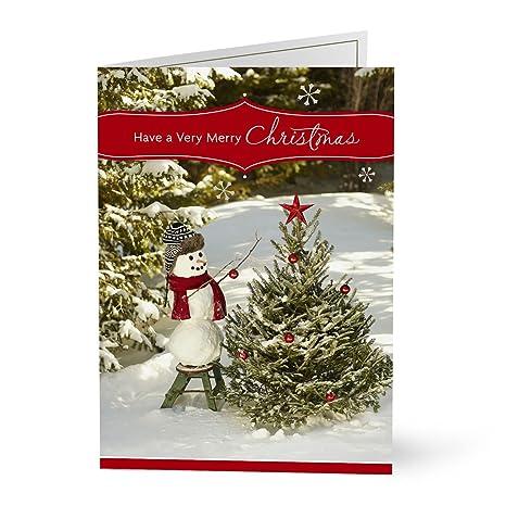 Company Christmas Cards.Amazon Com Hallmark Business Christmas Cards For Customers