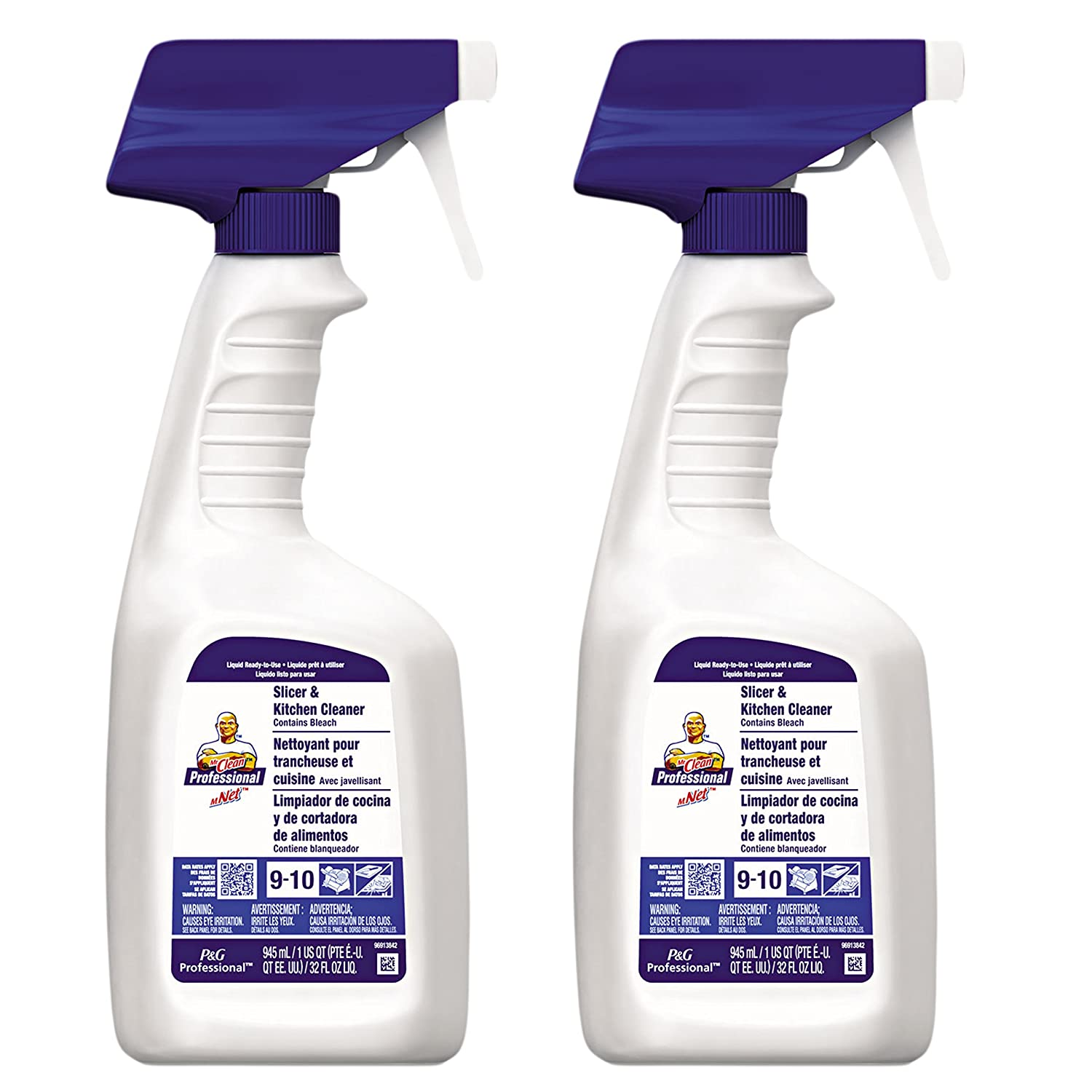 Mr。Clean Professional Slicer and Kitchen Cleaner with Bleach, 32 Ounce (Pack of 2 ) B07DKJ4S3C