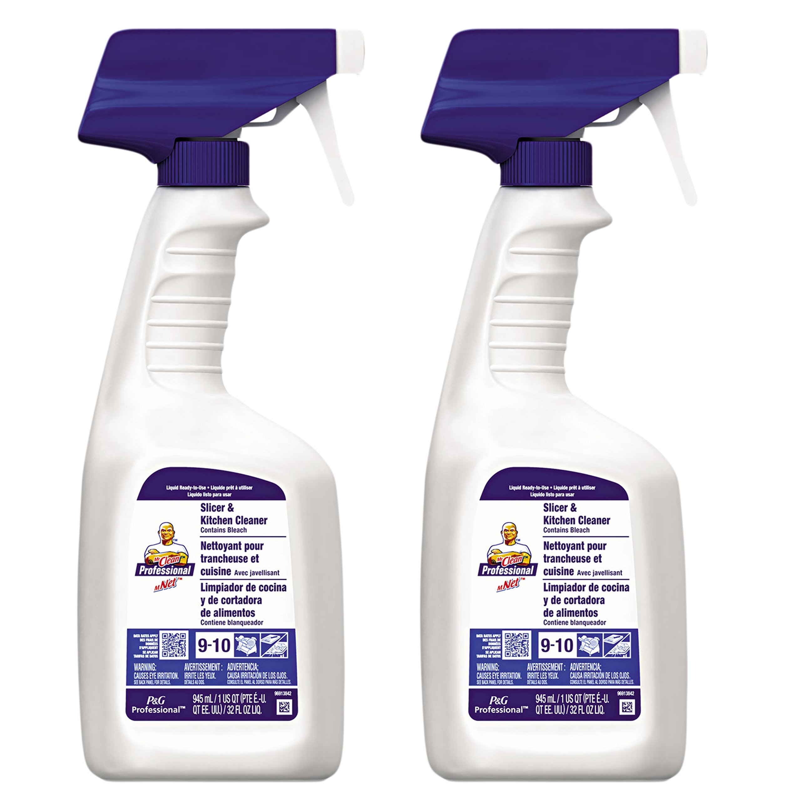 Mr. Clean Professional Slicer and Kitchen Cleaner With Bleach, 32 Ounce (Pack of 2)