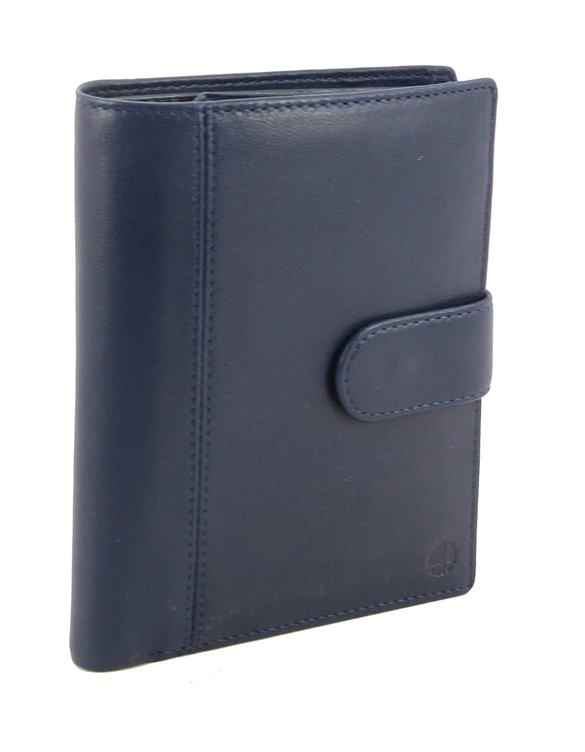 myBitti Genuine Sheep Leather Smart Family Size Passport Travel Wallet/Holder (Noir Black) saba