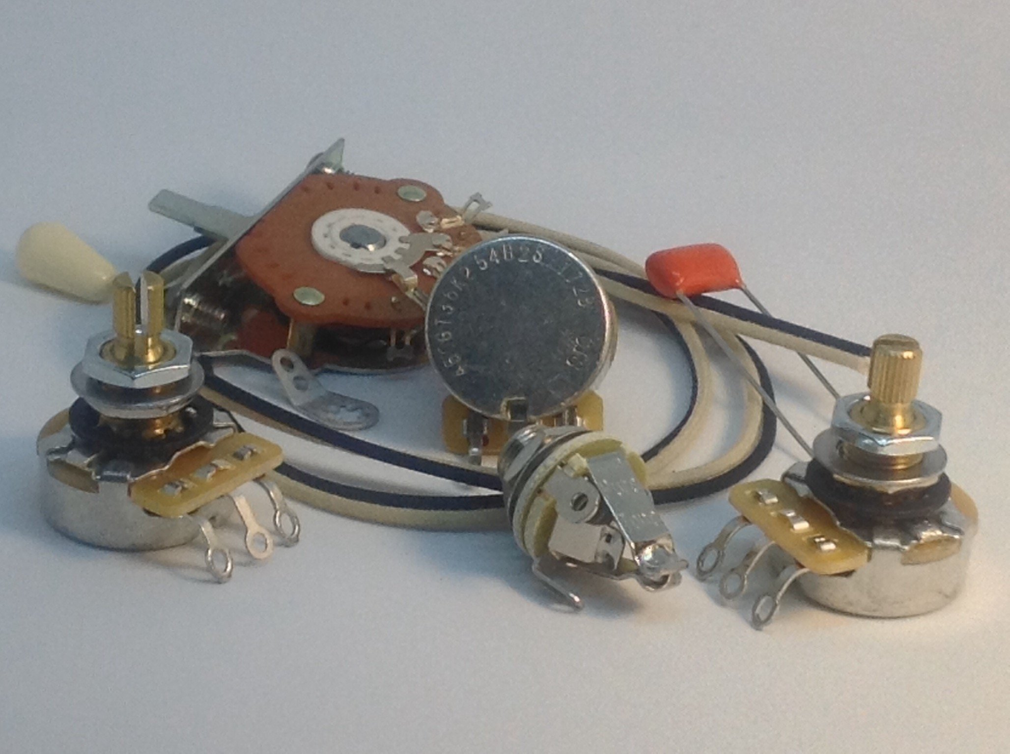 Stratocaster Wiring Kit CTS 450G Oak Switch .047uf 716P Small Orange Drop Pure Tone Full-contact Output Jack
