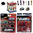 Retro G.I. Joe American Hero Marine Mystery Mini Figure Toys Bundled with Hollywood Rides Off Road Vehicles Vamp, H.I.S.S., a