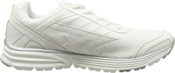 Mens Hi-Tech White//Silver Lace Up Trainers HARAKA XT LUX