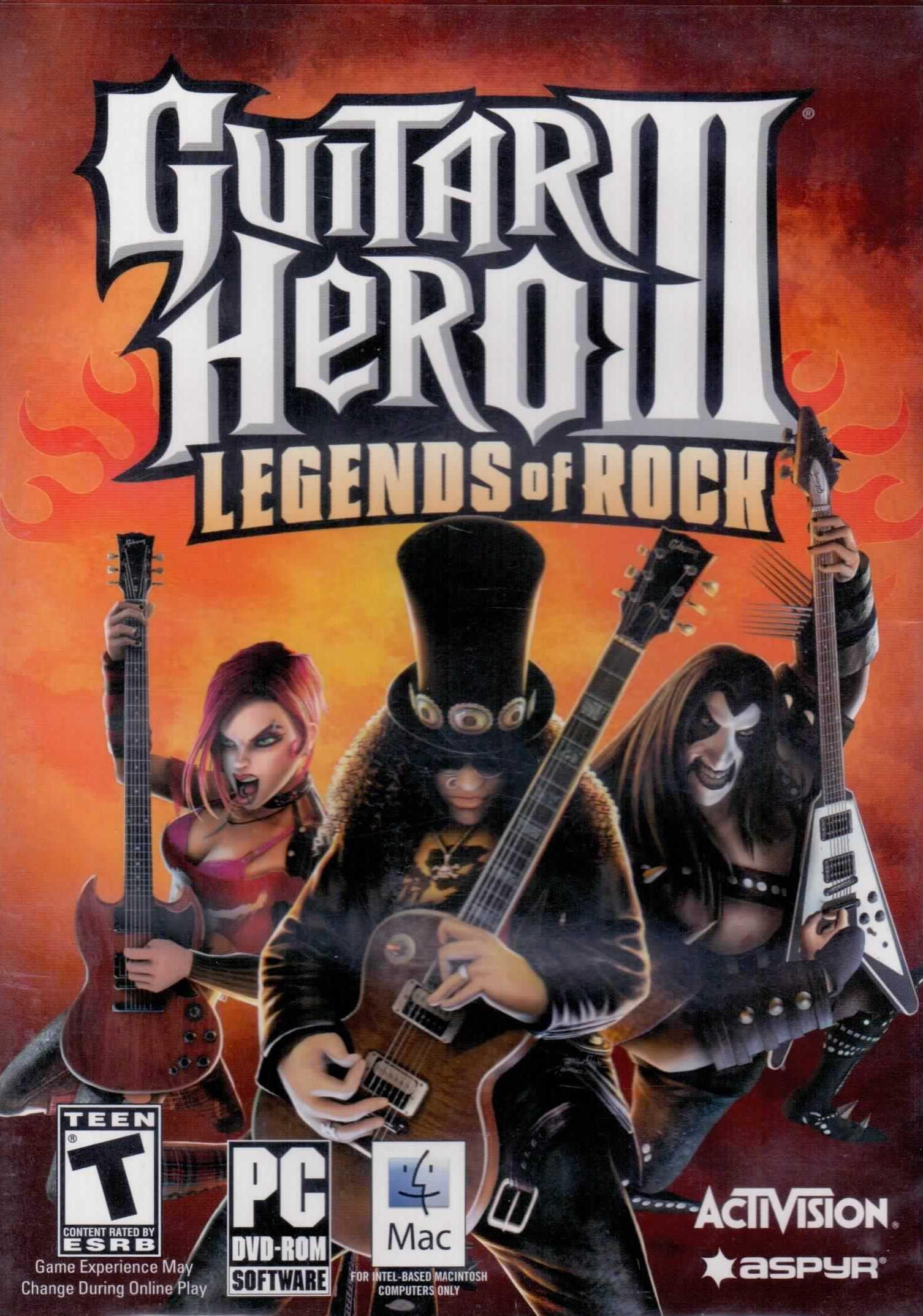 guitar hero iii legends of rock game only video games