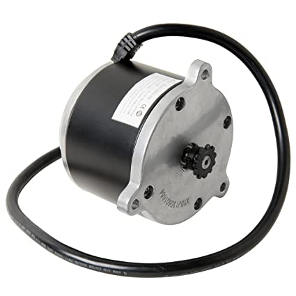 Electric Scooter Motor Currie Technologies 24 Volt 500 Watt DC For 500 Series Schwinn IZIP Reversible With 11 Tooth Sprocket 25 Chain Model Numbers
