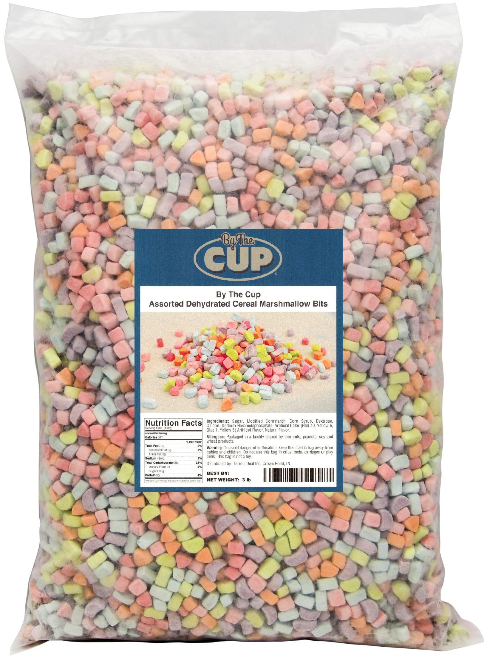 Assorted Dehydrated Cereal Marshmallow Bits 3 lb bulk bag by By The Cup