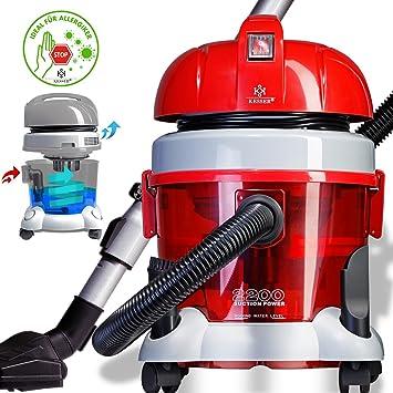 kesser® aspiradora 2200 W? con filtro de agua? Apto para alérgicos | multiusos para secar ...
