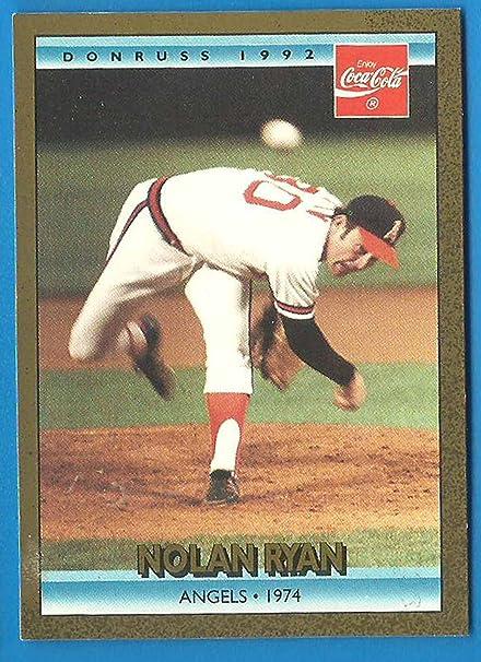 1992 Donruss Coca Cola Nolan Ryan Baseball Card 8 Angels