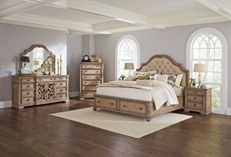 Amazon.com: Coaster Home Furnishings 5-Pc Wooden Bedroom Set in ...