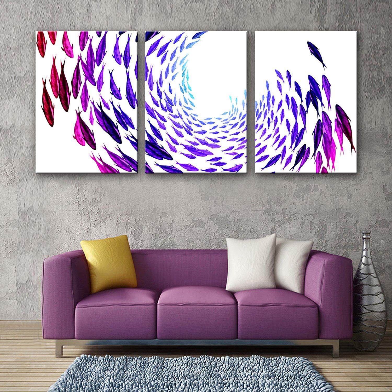 RUNDESHEBEI Y&M Frameless Malerei, gestreckte Leinwand Kunst Farbe Fisch Dekoration Malerei Set, 35  50  3 B071ZZ5PPM  | New Listing