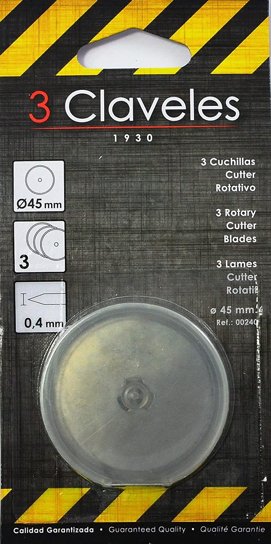 3 Claveles 240–Set di 3lame per cutter rotativo 3Claveles