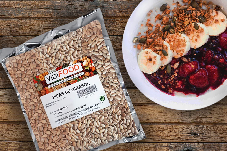 Semillas de Girasol - 1kg - Bocaditos crujientes pelados, listos para comer, sanos y deliciosos