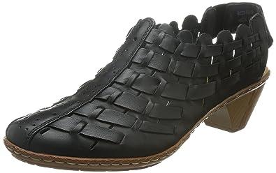2b4fd3af1dc90b Rieker Women s Sina 78 Black Leather Casual 5.5 B(M) US