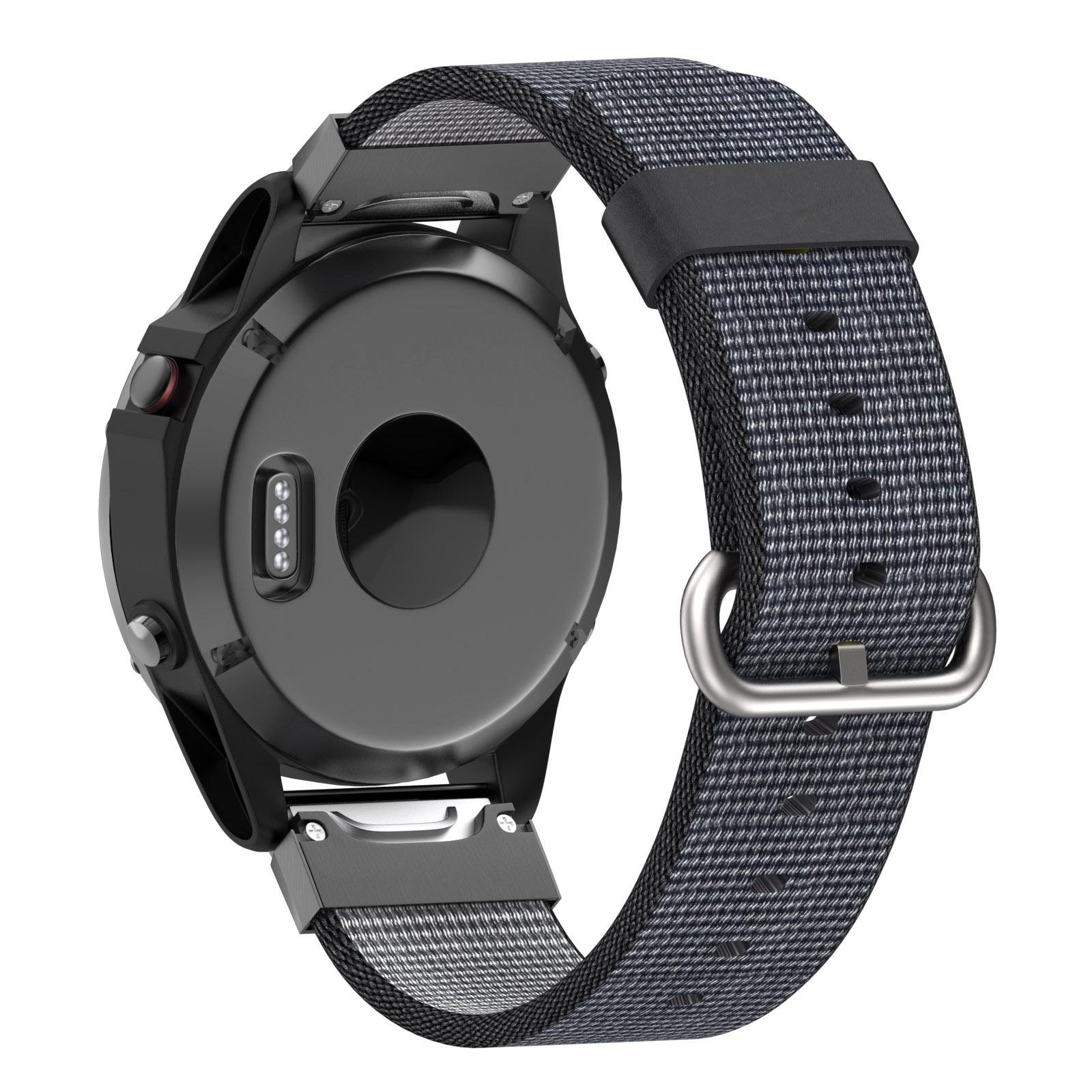 Yooside 22mm Replacement Watch Band Belt Nylon Belt Quick Release easy fit Connector for Garmin Fenix 5/Forerunner 935/Approach S60 (Gray)