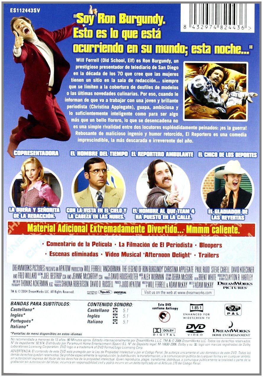 La Leyenda De Ron Burgundy [DVD]: Amazon.es: Varios: Cine y ...