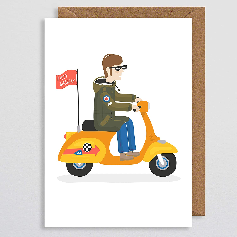 Vespa Lambretta Mods Mod Scooter Birthday Card