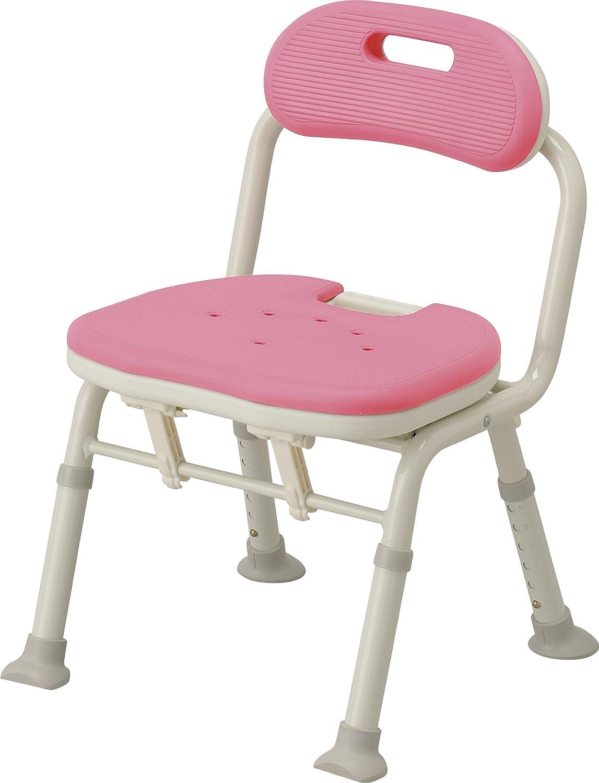 アロン化成 安寿 コンパクト折りたたみシャワーベンチ IC 背付タイプ ピンク B001GZD8AW 背付タイプ ピンク 背付タイプ ピンク