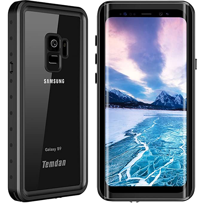 new concept 36fc4 68400 Temdan Samsung Galaxy S9 Waterproof Case. 2019 Designed Support Wireless  Charging Case Outdoor Built in Screen Protector Shockproof Waterproof Case  ...