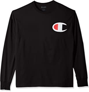 f0ee6803 Champion Men's Classic Jersey Long Sleeve Graphic T-Shirt