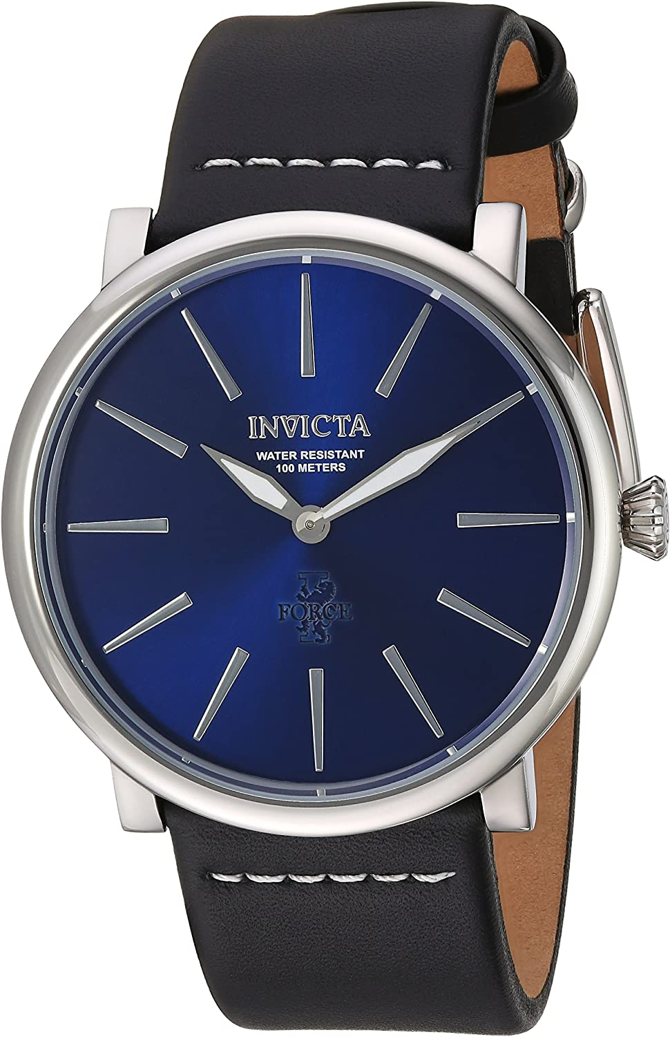 Invicta Men s I- I-Force Stainless Steel Quartz Watch with Leather Calfskin Strap, Black, 24 Model 22931