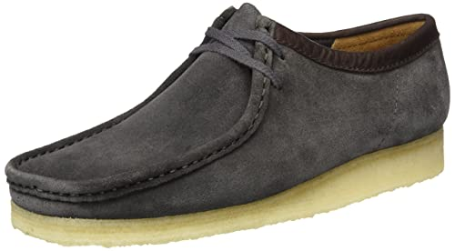 Clarks Originals Wallabee - Mocasines para hombre, color Negro (Charcoal Suede), talla 41 EU: Amazon.es: Zapatos y complementos