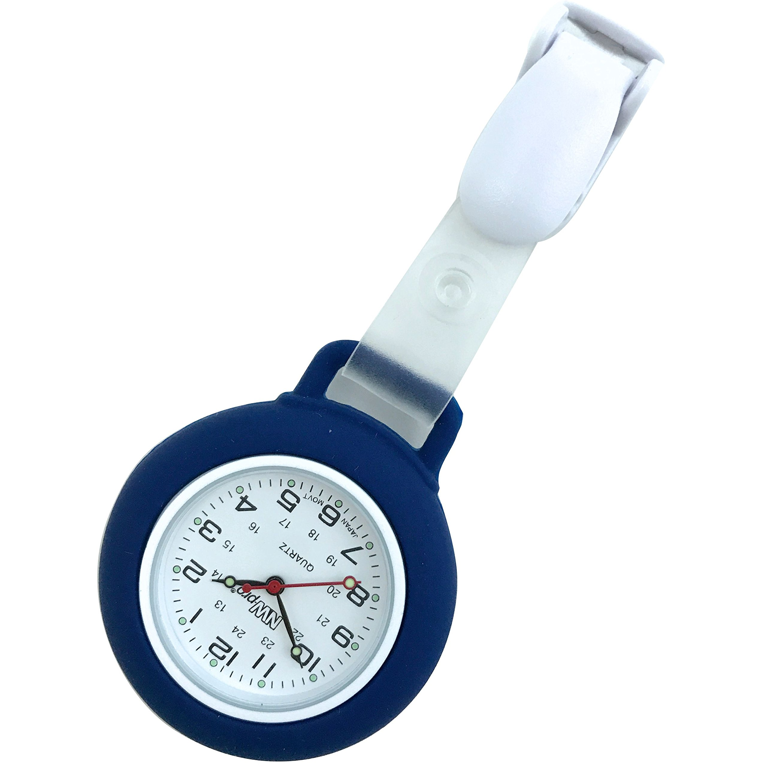 Nurse Watch - Clip-on Silicone (Infection Control) - Navy by NW-Pro