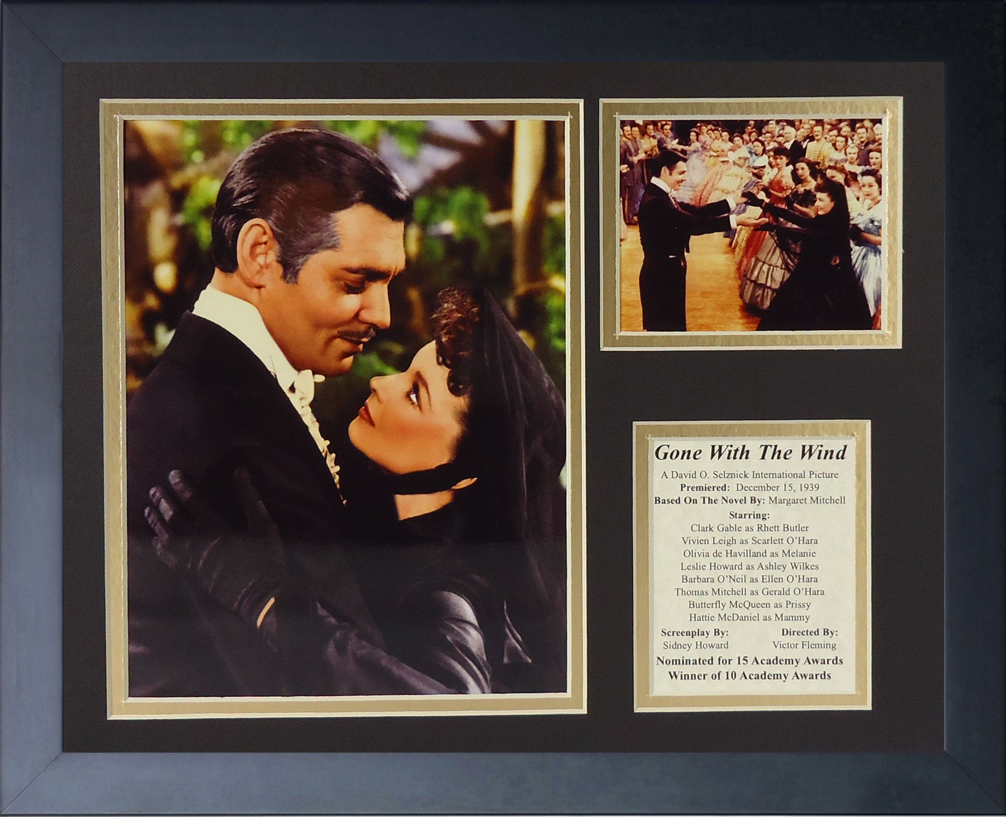 Legends Never Die Gone with the Wind Widow Framed Photo Collage, 11 by 14-Inch