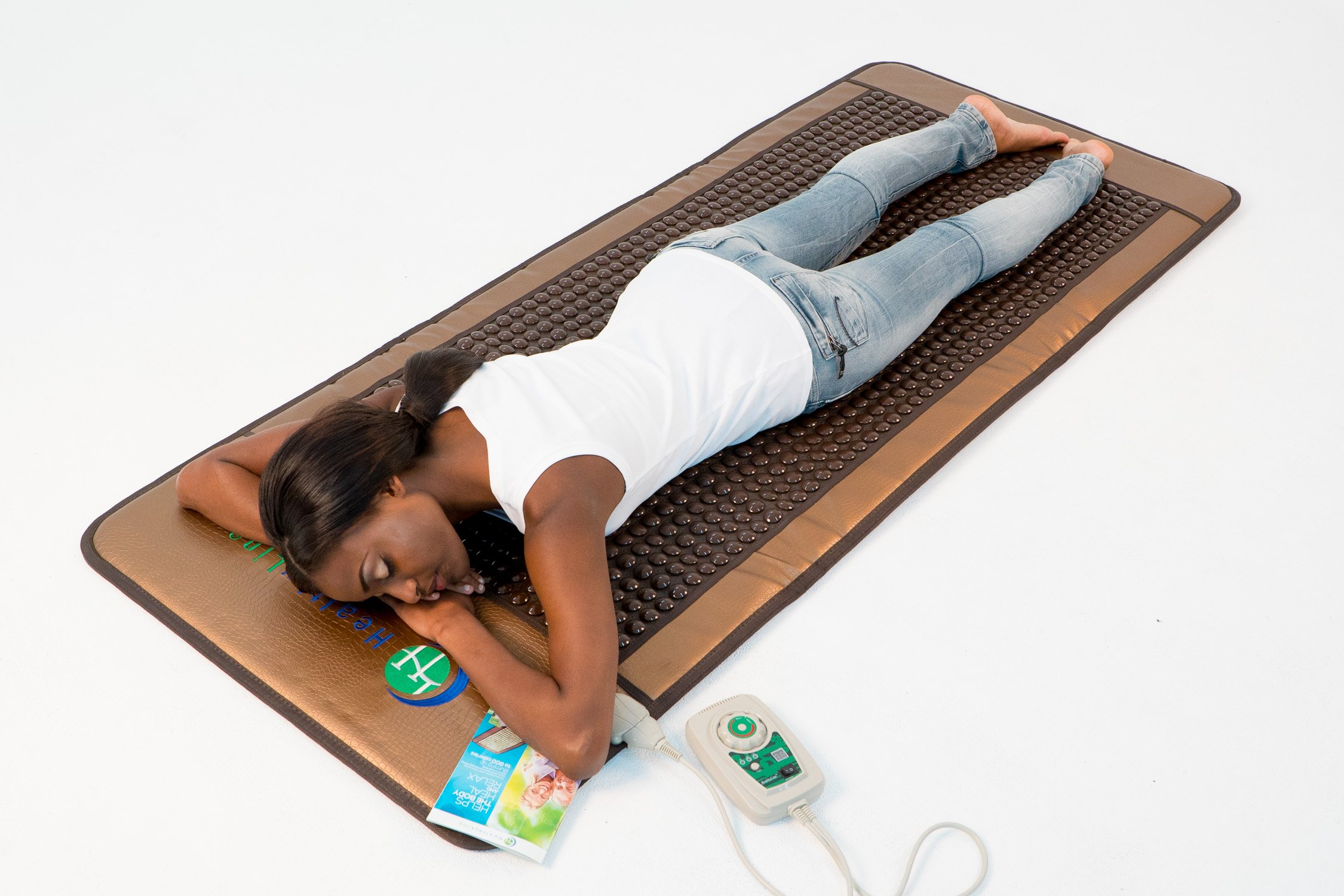 HealthyLine Far Infrared Heating Mat - For Pain Relief, Stress & Insomnia 76'' x 32'' | Natural Tourmaline Stone | Negative Ions (XL & Firm) | FDA Registered by HealthyLine (Image #7)