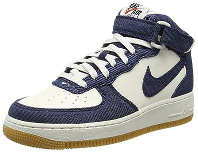 sports shoes c286e 815e2 Nike Air Force 1 Mid  07, Herren Hohe Sneakers, White blanc (