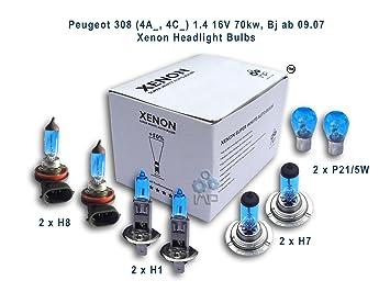 H7 501 100w Super White Upgrade Xenon HID Low//LED Side Light Bulbs Set//Kit