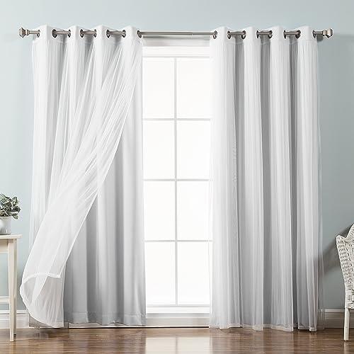 White Blackout Curtains Amazon Com