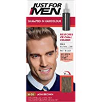 Just For Men Shampoo-In Colour, Grey Hair Dye For Men, Various Shades, Restores Original Colour For A Natural Look - Ash…