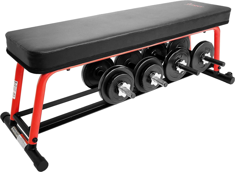 Sunny Health & Fitness Power Zone Strength Flat Bench