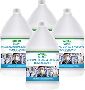 Hypochlorous Acid Professional Medical & Dental Cleaner (4-Gallons), Ready-to-Use 500PPM (HOCL), Powerful Cleaning and Deodorizing for Medical Facilities, Dental Offices, Nursing Homes, Natural Clean