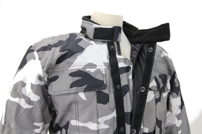 kt019 chaqueta moto quad enrejado gris camuflaje militar Marpat Urban: Amazon.es: Coche y moto