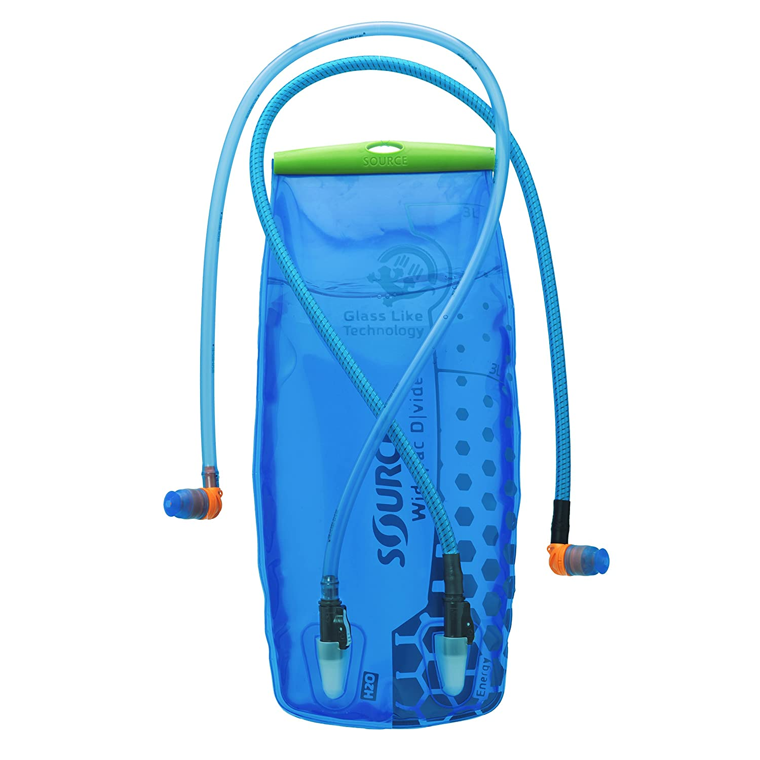 Source Outdoor Widepac Dvide Hydration System, transparent blau