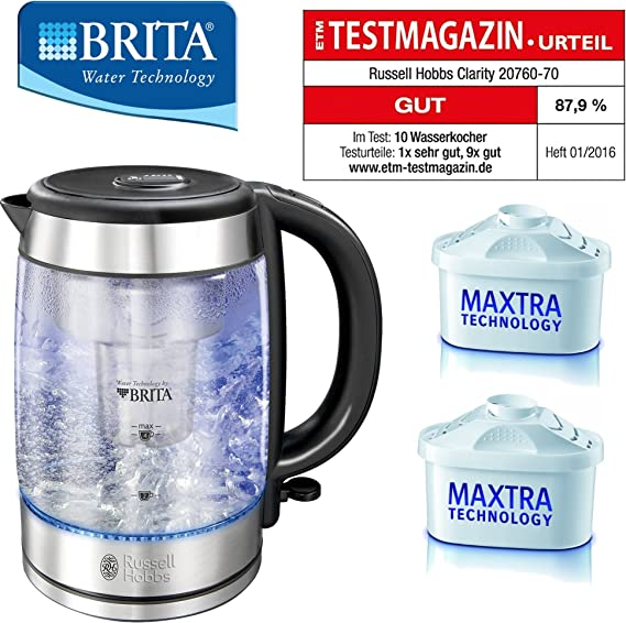 Wasserkocher Glas Russell Hobbs 20760 70 Clarity