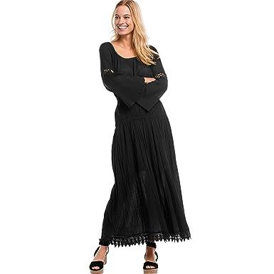 e5ee22e2552 Ellos Women s Plus Size Lace Trim Long Skirt at Amazon Women s Clothing  store