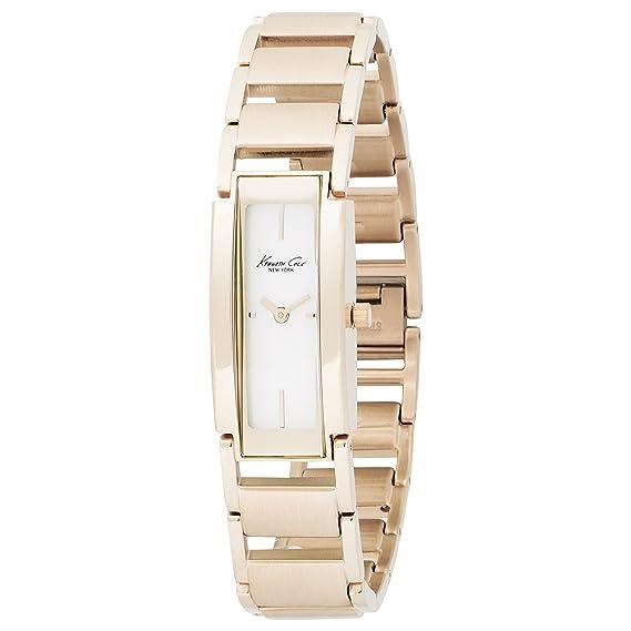 Kenneth Cole KC4679 - Reloj de mujer de cuarzo, correa de acero inoxidable color oro