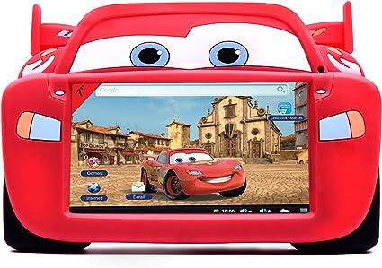 Lexibook MFA51DC - Funda protectora de silicona para tablet, diseño Cars , color/modelo surtido: Amazon.es: Juguetes y juegos