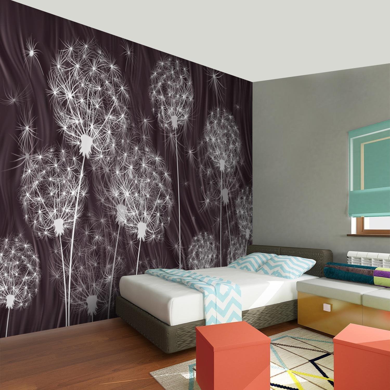 Fototapete Pusteblumen Weinrot Vlies Wand Tapete Wohnzimmer Schlafzimmer  Büro Flur Dekoration Wandbilder XXL Moderne Wanddeko Flower 17% MADE IN