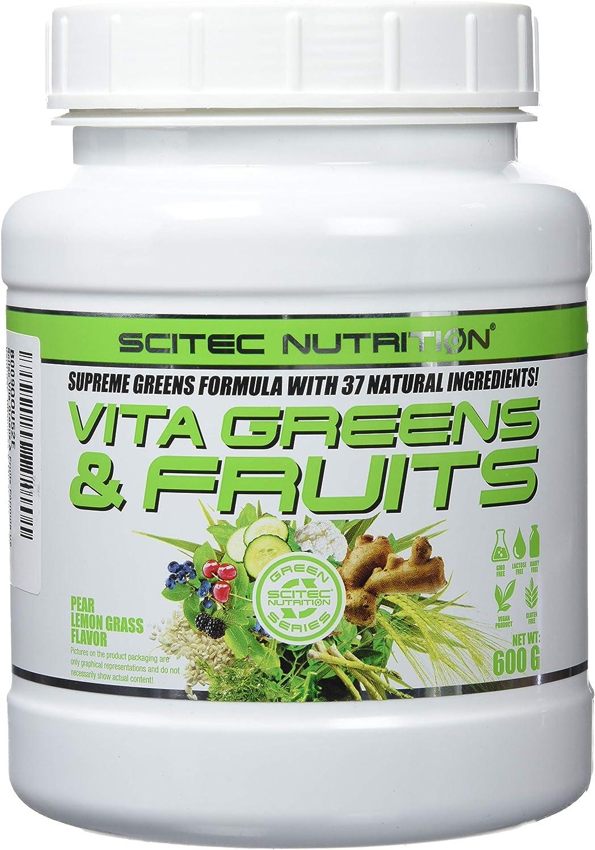 Scitec Vita Greens & Fruits Fórmula De Verduras, Vitaminas Y Minerales - 600 gr