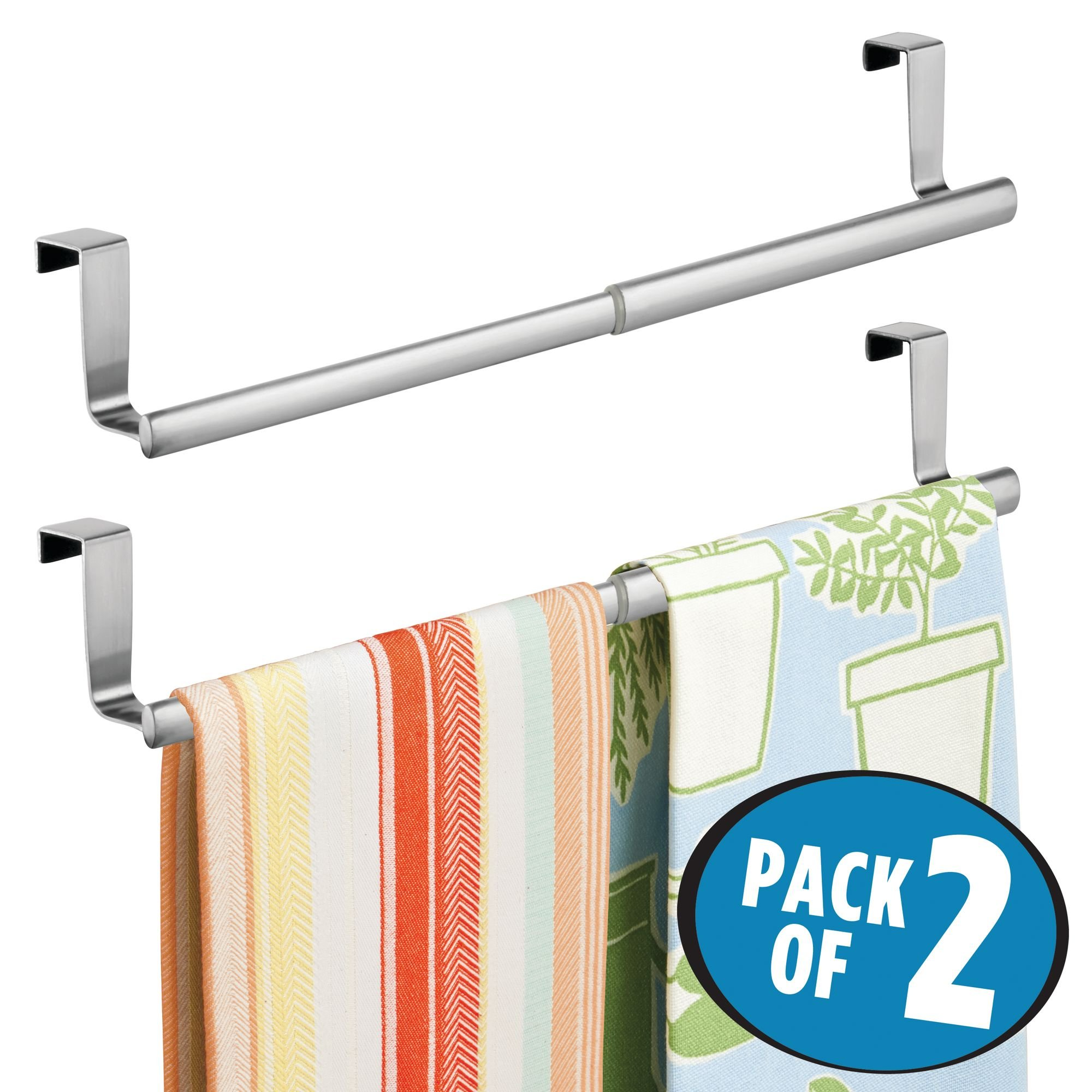 MDesign Over-the-Cabinet Expandable Kitchen Dish Towel Bar