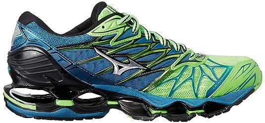 Mizuno Wave Prophecy 7, Zapatillas de Running para Hombre, Multicolor (Greengeckosilverbluesapphire), 41 EU: Amazon.es: Zapatos y complementos