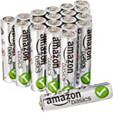 AmazonBasics - Pilas alcalinas AAA 'Performance' (Paquete de 20) - Diseño variable