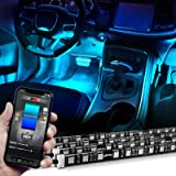 OPT7 Aura PRO Car Interior Lighting Kit Bluetooth Smart-Color LED Strip - 4pc - App Enabled- iOS & Android